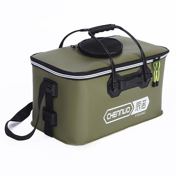 折疊桶  加厚折疊EVA雙層防水魚護包魚護桶魚箱活魚桶釣魚桶裝魚桶【限時八五鉅惠】
