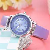 兒童手錶女孩防水學生可愛女款小學生清新韓版簡約電子女生公主粉    電購3C