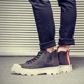 夏季男士高筒鞋中筒馬丁靴高邦男鞋潮韓版潮流英倫百搭內增高板鞋