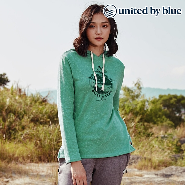 United by Blue 女起球長袖連帽上衣 201-097 Take A Stand Hooded Pullover / 城市綠洲 (有機棉、長版帽T)