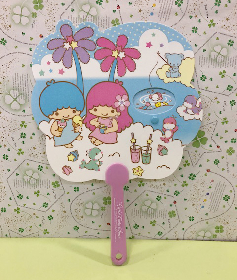 【震撼精品百貨】Little Twin Stars KiKi&LaLa 雙子星小天使~Sanrio 造型扇-可換圖案#07448
