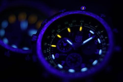 特殊偵察RECON 藍寶水晶三眼鬧鈴腕錶 8841.KM.SET LUMINOX 雷明時