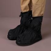 加厚耐磨防水防雨鞋套帶拉?低筒時尚防滑雨鞋套