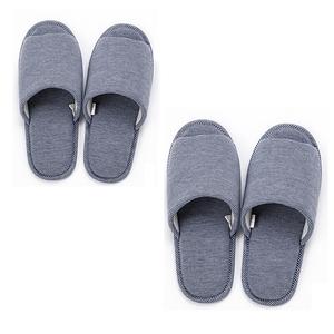 HOLA 柔軟針織拖鞋-藍Mx1+Lx1