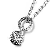 《QBOX 》FASHION 飾品【CSP650】精緻個性3D星光米字多角面鑄造鈦鋼墬子項鍊/掛飾