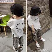 男童T恤 韓版夏季T恤蝙蝠衫男童新款女寶短袖寬鬆白色個性上衣2-8歲潮  提拉米蘇