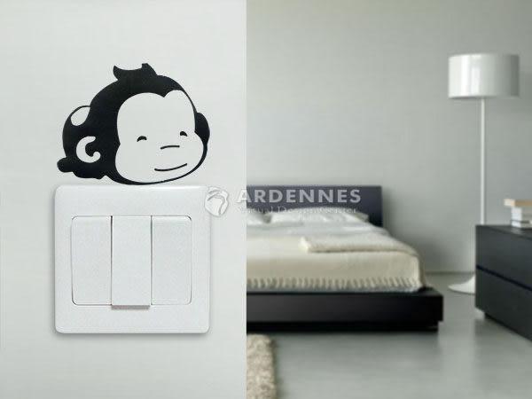 【ARDENNES】趣味開關貼/牆貼/居家佈置小物 超Q卡通貼OP003趴趴猴