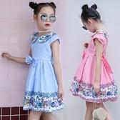 中大童短袖洋裝 娃娃領連身裙 童裝 MC32105 好娃娃