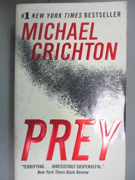 【書寶二手書T4/原文小說_KEG】Prey_Crichton, Michael