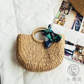 復古手提包百搭藤編編織包度假旅行沙灘包草編包女【小酒窩服飾】