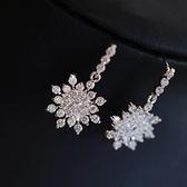 耳環 925純銀鑲鑽-耀眼迷人生日情人節禮物女耳飾73du26【時尚巴黎】