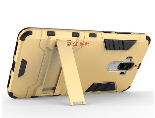 HUAWEI Mate 9 Pro 變形盔甲保護套 軟殼 鋼鐵人馬克戰衣 全包帶支架 矽膠套 手機套 手機殼 華為