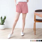 OrangeBear《BA1541》百搭輕曳~素色質感厚雪紡短褲.6色--適 2L~7L