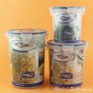 圓形塑料保鮮盒耐熱大小容量谷物雜糧食品密...