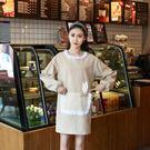 雙層韓版時尚卡通小兔子耳朵帶袖套圍裙 罩衣廚房衣 工作服情侶款 黛尼時尚精品
