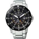 CITIZEN 星辰 PROMASTER 光動能第二地時間手錶-黑x銀/43.5mm BJ7094-59E