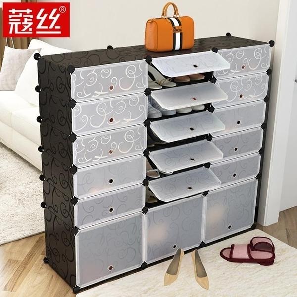 鞋櫃 簡易鞋櫃經濟型防塵多層組裝家用省空間鞋架多功能簡約現代門廳櫃 萬寶屋