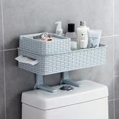 衛生間置物架浴室免打孔收納架多功能吸壁式廁所馬桶塑料置物架YYS    易家樂