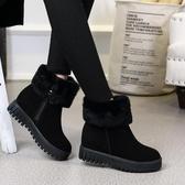 內增高短靴 冬季新款雪靴女韓版防滑保暖加絨棉鞋