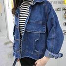 破洞bf牛仔夾克短外套女學生潮【洛麗的雜貨鋪】