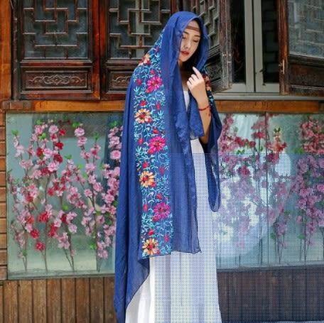[協貿國際]  女士印度尼泊爾風情棉麻圍巾披肩 (1入)