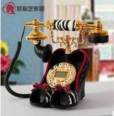 幸福居*好心藝 固定電話機 辦公家用 時尚創意 個性座機高跟鞋電話機(首圖款)