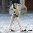 BIG TRAIN  軍事風貼袋短褲-男...