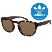 原廠公司貨-【adidas 愛迪達】明星推薦!!經典三葉草LOGO太陽眼鏡/運動眼鏡#琥珀框-棕鏡片(001-148-009)