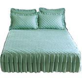 (聖誕交換禮物)素色夾棉單件床裙式床罩加厚防塵保護床套雙人1.8m床單床笠
