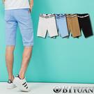 彈性牛仔短褲【P1574】OBI YUAN 韓版專櫃厚磅材質簡約素面丹寧休閒褲共4色
