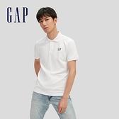 Gap男裝 Logo朱蒂網眼布POLO衫 897003-白色