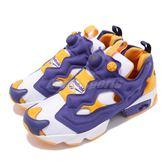 Reebok 慢跑鞋 Insta Pump Fury OG MU 黃 紫 男鞋 休閒鞋 運動鞋【PUMP306】 DV8291