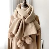 圍巾女秋冬季正韓日系百搭純色加厚ins潮學生少針織毛線圍脖必備