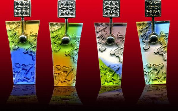 鹿港窯~開運古法水晶琉璃銀飾項鍊~風華年代 附精美包裝◆免運費送到家