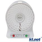酷涼一夏 充電隨身三段式 USB風扇◆超涼轉速◆LED燈白光◆壽命超長