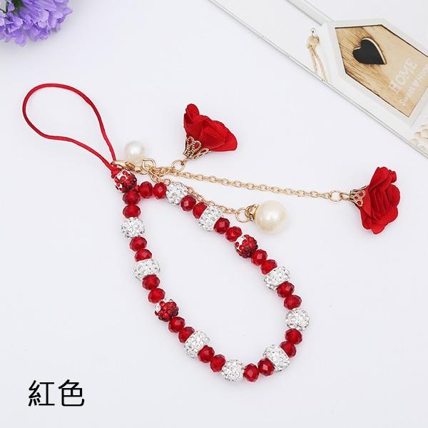 珍珠花朵手繩 手機掛繩 手機掛件 手掛繩 吊飾 淑女掛件 手繩