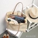 新款夏天pp草編織包 大容量手提購物袋 旅行包包女 洛小仙女鞋