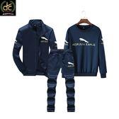 潮流時尚超值三件組運動套裝 深藍《P5118 》