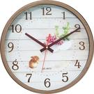 12吋靜音胡桃木時鐘