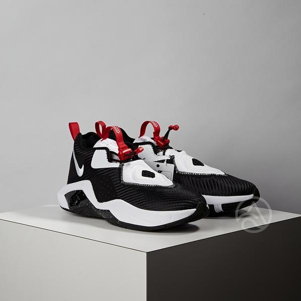 Nike Lebron Soldier XIV (GS) 女大童 黑白 避震 包覆 運動 籃球鞋 CN8689-002