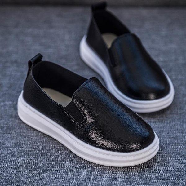 【618好康又一發】童鞋兒童單鞋軟底女童板鞋男童皮鞋