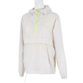 Mizuno [D2TC127602] 女 長袖 上衣 連帽 風衣 運動 休閒 防潑水 舒適 防風 口袋 米白