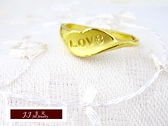 9999純金 黃金 金飾 設計款 愛之物語 戒指 尾戒