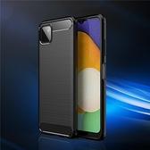 Samsung Galaxy A22 5G 拉絲軟殼 手機殼 防摔殼 保護套 碳纖維 三星
