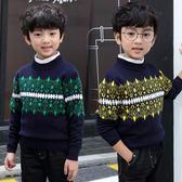 男童毛衣兒童冬裝加厚加絨中大男童毛衣針織衫學生男孩打底衫