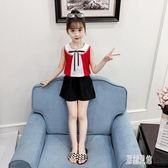 夏季雪紡女童套裝2019新款夏天女孩洋氣時髦童裝兒童兩件套夏 LR6007【原創風館】