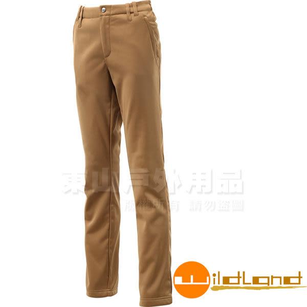 Wildland 荒野 0A12361-63深卡其 女彈性針織直筒長褲