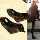 MG 馬丁鞋-馬丁靴韓版百搭黑色皮靴厚底...
