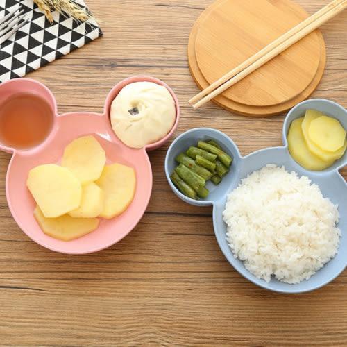 餐盤 小麥秸稈兒童卡通鼠造型分隔餐盤 B7J010 AIB小舖