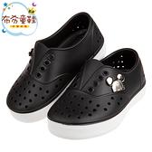《布布童鞋》Disney迪士尼米奇經典釦飾黑色兒童休閒鞋洞洞鞋(15~20公分) [ D0P272D ]